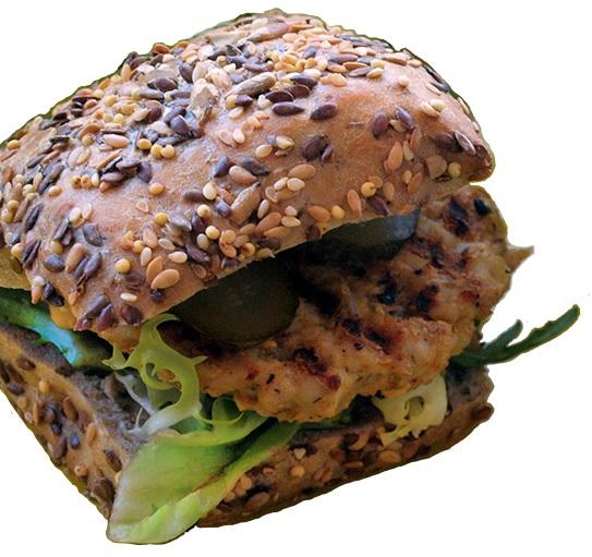 Dietetyczny hamburger.