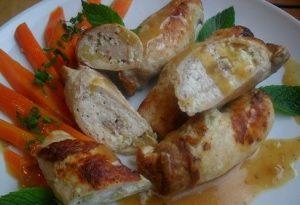 Rolady schabowe z serem feta