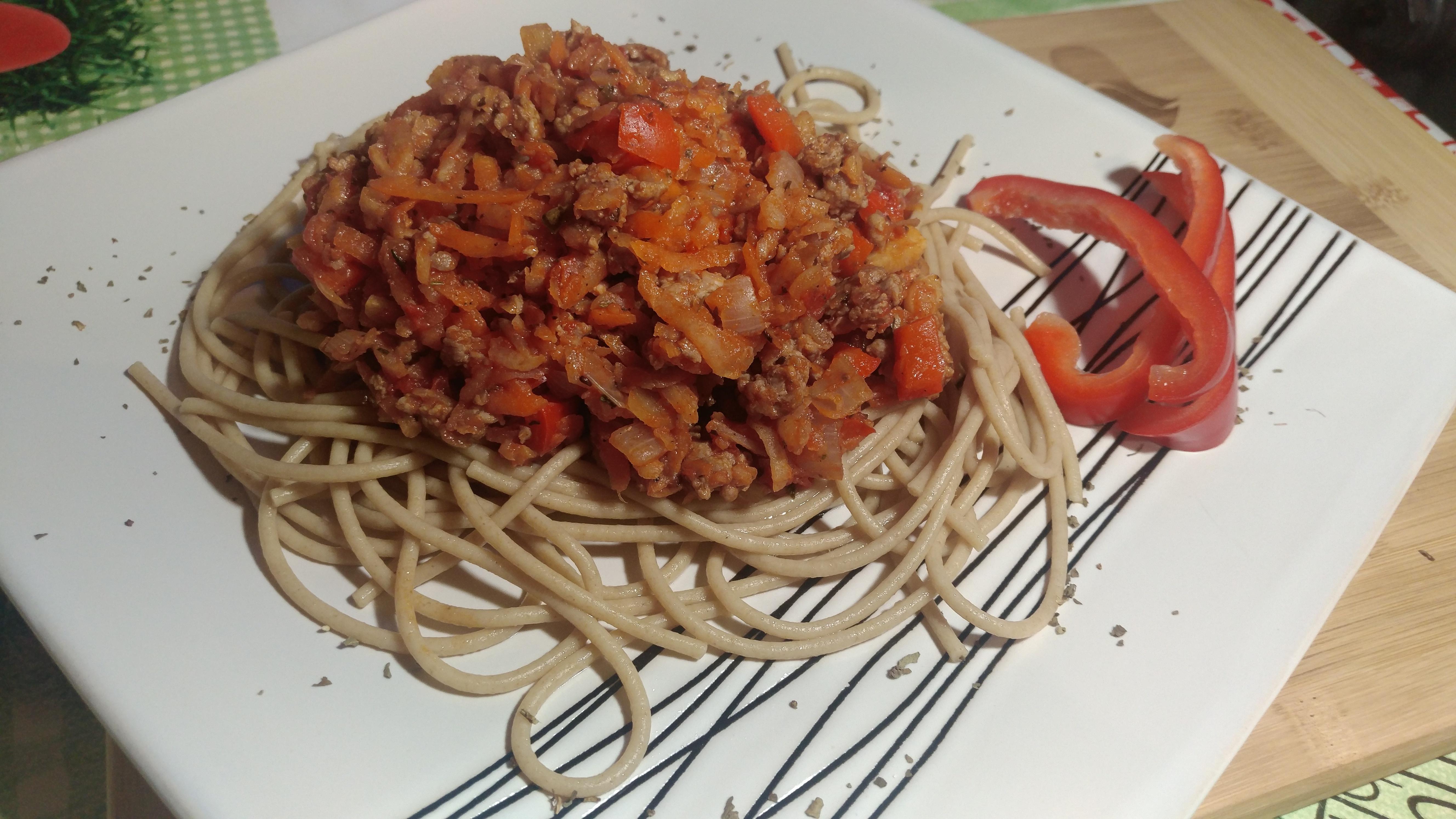 spaghetti bolognese dietetyczne
